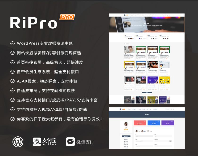 WordPress主题RiPro5.8最新破解版去授权-常网小站Miknio